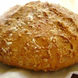 Whole Wheat No-Knead Bread With Flax Seeds and Oats recipe