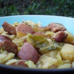 Kielbasa, Cabbage and Onions recipe