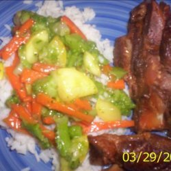 Stir Fry Veggies With Rice recipe