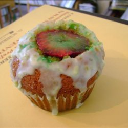 Strawberry Lime Stuffed Cupcakes recipe
