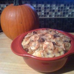 Apple Sauce, Banana and Raisin Bread Pudding recipe