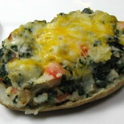 Stuffed Potatoes With Kale and Red Pepper recipe