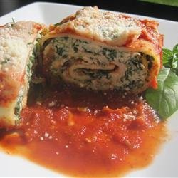 Spinach Lasagna Roll Ups recipe