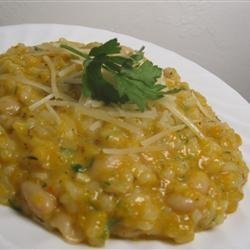 Risotto with Butternut Squash and White Beans recipe
