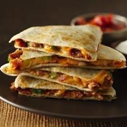 Cheesy Bacon-Bean Quesadillas recipe