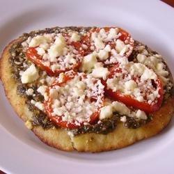Pesto Pita Pizza recipe