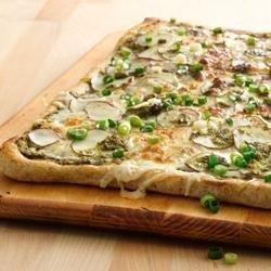 Potato Pesto Pizza recipe