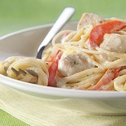 Chicken Alfredo Pesto Pasta recipe