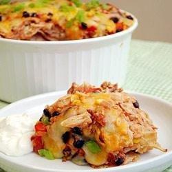 Chicken and Corn Enchilada Casserole recipe