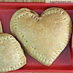 Heart Shaped Whole Wheat Mini Calzones recipe