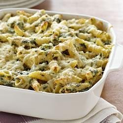 Four-Cheese Pasta Florentine recipe