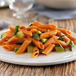 Penne with Zucchini, Asparagus & Parmigiano Reggiano Cheese recipe