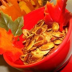Caramelized Spicy Pumpkin Seeds recipe