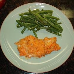 Baked Cod with Roasted Red Pepper Horseradish Sauce recipe