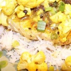 Curried Pork Chops and Cauliflower with Basmati Rice recipe