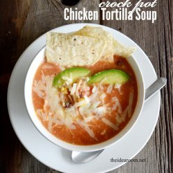 Crock Pot Chicken Tortilla Soup recipe
