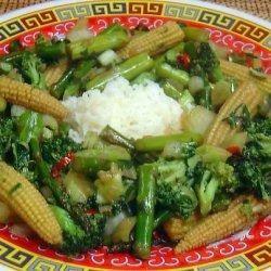Ken Hom's Stir Fried Mixed Vegetables recipe