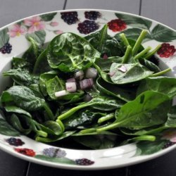 Spinach With Garlic Vinaigrette recipe