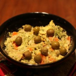 Steamed Vegetable Potato and Egg Salad recipe