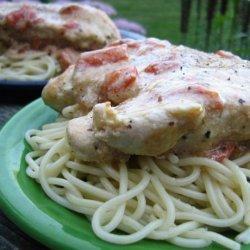Chicken With Fettuccine recipe