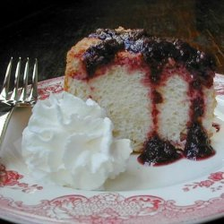 Lemon Angel Cake With Blueberry Sauce recipe