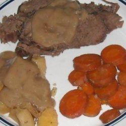 Easy Pot Roast and Veggies  + Gravy (Crock Pot) recipe