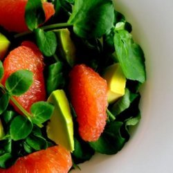 Avocado, Pink Grapefruit and Mache Salad recipe