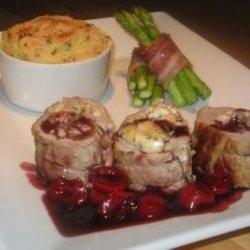 Goats Cheese Stuffed Pork Tenderloin With Red Wine Balsamic Cher recipe
