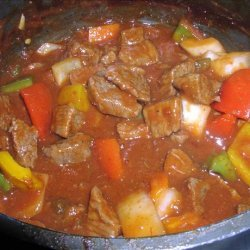 Mexican Style Beef in Sauce recipe