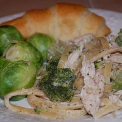Chicken Fettuccine With Herb Cheese recipe