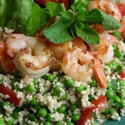 Shrimp With Minty Couscous Salad recipe