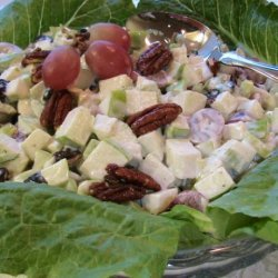 Waldorf Salad With Tart Cherries, Grapes, and Candied Pecans recipe