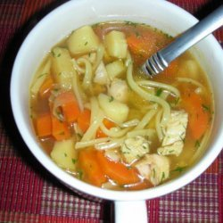 Chicken Noodle Soup With Carrots, Parsnips and Dill recipe