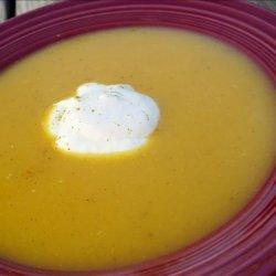 Squash Soup With Horseradish Cream recipe