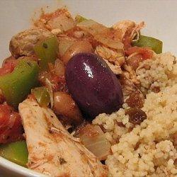 Greek Chicken Stew With Cinnamon Couscous recipe