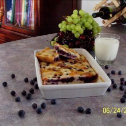 Low Fat Sugarless Blueberry Squares recipe