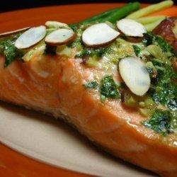 Salmon With Cilantro Pesto recipe