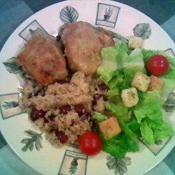 Chicken, Rice, and Grape Pilaf recipe