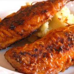 Mackerel With Orange & Harissa Glaze recipe