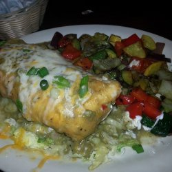 Chicken Chimichangas With Green Sauce recipe