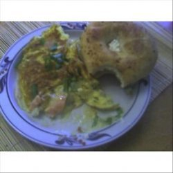 Ari's Eggs and Onions and Salmon and Cream Cheese recipe