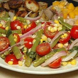 Green Bean Salad With Corn, Cherry Tomatoes & Basil recipe