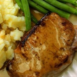 Dijon Mustard Pork Chops With Rice recipe