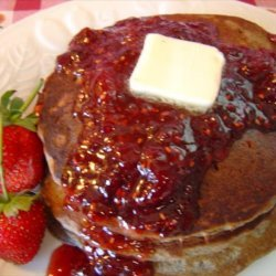 Buttermilk Buckwheat Pancakes With Summer Fruit Syrup recipe