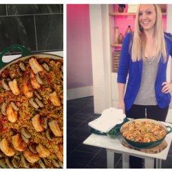 Shrimp and Sausage Paella recipe