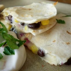 Corn, Black Bean and Red Onion Quesadillas recipe