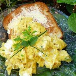 Herb Cream Cheese Scrambled Eggs recipe