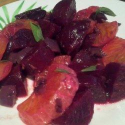 Roasted Beet and Olive Salad recipe