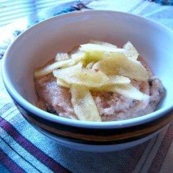 Chai Semolina With Honey Apples recipe