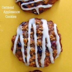 Iced Oatmeal Applesauce Cookies recipe